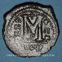 Coins Empire byzantin. Justin II (565-578). Follis. Théoupolis (Antioche), 3e officine, 566-567