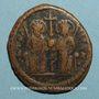 Coins Empire byzantin. Justin II (565-578). Follis. Théoupolis (Antioche), 3e officine, 571-572
