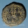 Coins Empire byzantin. Justin II (565-578). Follis. Théoupolis (Antioche), 3e officine, 572-573