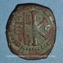 Coins Empire byzantin. Justinien I (527-565). 1/2 follis. Théoupolis (Antioche). 529-533