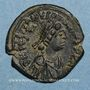 Coins Empire byzantin. Justinien I (527-565). Décanoummion. Constantinople, 554-555