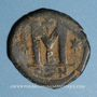 Coins Empire byzantin. Justinien I (527-565). Follis. Constantinople, 2e officine, 527-538