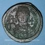 Coins Empire byzantin. Justinien I (527-565). Follis. Constantinople, 3e officine, 538-539
