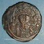 Coins Empire byzantin. Justinien I (527-565). Follis. Constantinople, 3e officine. 545-546