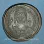Coins Empire byzantin. Justinien I (527-565). Follis. Constantinople, 4e officine, 538-539
