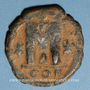 Coins Empire byzantin. Justinien I (527-565). Follis. Constantinople, (officine illisible), 527-538