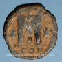 Coins Empire byzantin. Justinien I (527-565). Follis. Constantinople, (officine illisible), 527-538