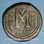 Coins Empire byzantin. Justinien I (527-565). Follis. Théoupolis (Antioche), 3e officine, 562-563