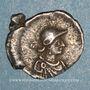 Coins Empire byzantin. Justinien I (527-565). Monnayage anonyme. 1/3 silique, à partir de 530