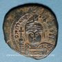 Coins Empire byzantin. Maurice Tibère (582-602). 1/2 follis. Constantinople, 4e officine, 588-589