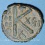 Coins Empire byzantin. Maurice Tibère (582-602). 1/2 follis. Cyzique, 1ère officine, 598-599