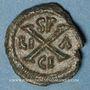 Coins Empire byzantin. Maurice Tibère (582-602). Décanoummion. Syracuse, 587-602