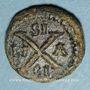 Coins Empire byzantin. Maurice Tibère (582-602). Décanoummion. Syracuse ou Catane, 582-587