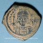 Coins Empire byzantin. Maurice Tibère (582-602). Follis. Constantinople, 1ère officine, 586-587
