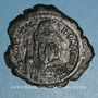 Coins Empire byzantin. Maurice Tibère (582-602). Follis. Constantinople, 1ère officine. 586-587