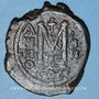 Coins Empire byzantin. Maurice Tibère (582-602). Follis. Constantinople, 3e officine(?), 589-590