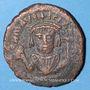 Coins Empire byzantin. Maurice Tibère (582-602). Follis. Nicomédie, 2e officine (602)