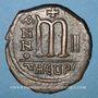 Coins Empire byzantin. Maurice Tibère (582-602). Follis. Théopoulis (Antioche), 3e officine, 583-584