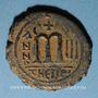 Coins Empire byzantin. Maurice Tibère (582-602). Follis. Théopoulis (Antioche), 584-585
