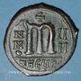 Coins Empire byzantin. Maurice Tibère (582-602). Follis. Théopoulis (Antioche), 585-586