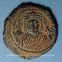 Coins Empire byzantin. Maurice Tibère (582-602). Follis. Théopoulis (Antioche), 5e officine, 598-599