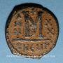 Coins Empire byzantin. Maurice Tibère (582-602). Follis. Théopoulis (Antioche), 5e officine, 601-602
