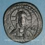 Coins Empire byzantin. Monnayage anonyme attribué à Romain IV (1068-1071). Follis, classe G