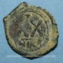 Coins Empire byzantin. Phocas (602-610). 1/2 follis. Nicomédie, 2e officine, 603-604