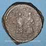 Coins Empire byzantin. Phocas (602-610). Follis. Constantinople, 3e officine, 602-603