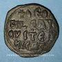 Coins Empire byzantin. Théophile (829-842). Follis. Constantinople, 830/831-842