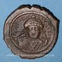 Coins Empire byzantin. Tibère II Constantin (578-582). 1/2 follis. Antioche, 581-582, 3ième officine