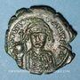 Coins Empire byzantin. Tibère II Constantin (578-582). 1/2 follis. Nicomédie, 2e officine, 579-582