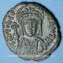 Coins Empire byzantin. Tibère II Constantin (578-582). 1/2 follis. Rome, 578-582