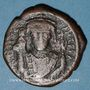 Coins Empire byzantin. Tibère II Constantin (578-582). Follis. Constantinople, 1ère officine, 580-581
