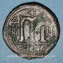 Coins Empire byzantin. Tibère II Constantin (578-582). Follis. Théoupolis (Antioche), 579
