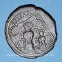 Coins Héraclius (610-641) et Héraclius Constantin (613-631). Follis. Constantinople, 3e officine, 613
