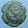 Coins Ambiani. Bronze aux deux animaux affrontés, vers 60-25 av. J-C