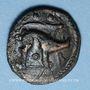Coins Ambiani. Région d'Amiens. Bronze au sanglier et au cheval, vers 60 - 30/25 av. J-C