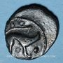 Coins Ambiani (région d'Amiens). (vers 60-25 av. J-C). Bronze au sanglier et au cheval