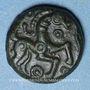 Coins Ambiani (région d'Amiens) (vers 60 - 30/25 av. J-C). Bronze au cheval et au sanglier