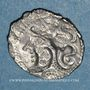 Coins Aulerques Cénomans. Minimi d'argent à la tête de Pallas. Vers 80-50 av. J-C