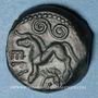 Coins Aulerques Eburovices. Région d'Evreux. Epu. Bronze, vers 50-30/25 av. J-C