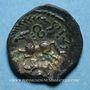 Coins Aulerques Eburovices. Région d'Evreux. Ibrvixs. Bronze, vers 50-40 av. J-C