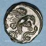 Coins Carnutes. Région de Chartres. Bronze à l'aigle et au serpent, 2e moitié du 1er siècle av. J-C