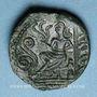 Coins Carnutes. Région de Chartres - Pixtilos. Bronze à la déesse assise, classe V, vers 40-30 av. J-C