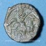 Coins Carnutes. Région de Chartres - Pixtilos. Bronze au cavalier, classe VII, vers 40-30 av. J-C