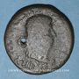 Coins Celtibérie. Lepida-Celsa. Bronze au nom d'Auguste , 5-3 av. J-C. Contremarqué
