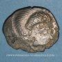 Coins Coriosolites. Côtes du Nord. Statère de billon au nez droit. 1ère moitié du 1er siècle av. J-C