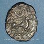 Coins Coriosolites. Côtes du Nord. Statère de billon au nez droit, vers 80-50 av. J-C