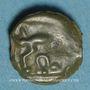 Coins Leuques. Région de Toul. Potin, classe Ic avec sanglier à gauche, 2e moitié du 1er siècle av. J-C
